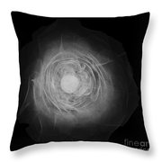 X-ray Of A Rose Throw Pillow