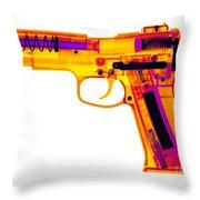 X-ray Of An Air Gun Throw Pillow