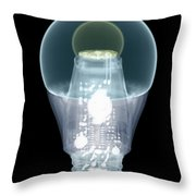 X-ray Of An Energy Efficient Light Throw Pillow