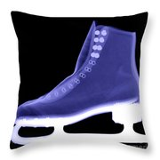 X-ray Of An Ice Skate Throw Pillow