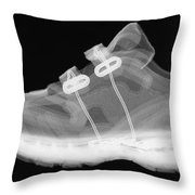 X-ray Of Childs Shoe Throw Pillow