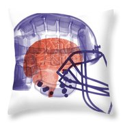 X-ray Of Head In Football Helmet Throw Pillow