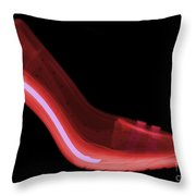 X-ray Of High Heel Shoes Throw Pillow