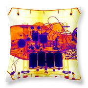 X-ray Of Mechanical Fish Throw Pillow