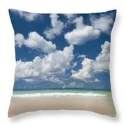 Yacht In The Distance Off The West Throw Pillow