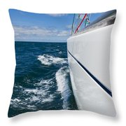 Yacht Lines Throw Pillow