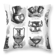 Yachting Trophies, 1871 Throw Pillow