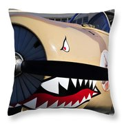 Yak Attack Throw Pillow