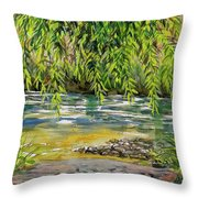 Yakima River Throw Pillow