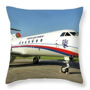 Yakovlev Yak-40 Throw Pillow