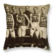 Yale Basketball Team, 1901 Throw Pillow by Granger