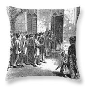 Yale College, 1876 Throw Pillow