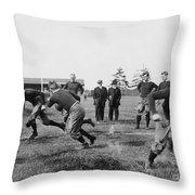 Yale: Football Practice Throw Pillow