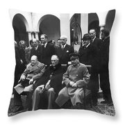 Yalta Conference, 1945 Throw Pillow