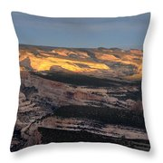 Yampa Bench Sunset One Throw Pillow