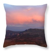 Yampa Bench Sunset Two Throw Pillow
