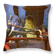 Yard Art On The Move Throw Pillow