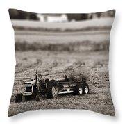 Yard Work Throw Pillow