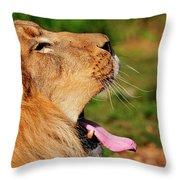 Yawning Throw Pillow