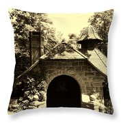 Ye Ole Cottage Throw Pillow