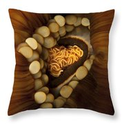 Yellow And Orange Anemone Mouth, Sabah Throw Pillow