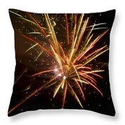 Yellow And Red Fireworks Throw Pillow