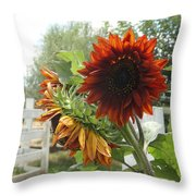 Yellow And Rusty Throw Pillow
