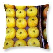 Yellow Apples Throw Pillow
