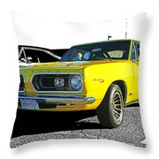 Yellow Barracuda Throw Pillow