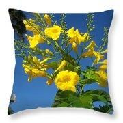 Yellow Bells Throw Pillow
