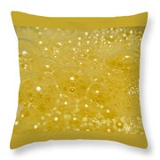 Yellow Bubbles Throw Pillow