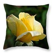 Yellow Bud Throw Pillow
