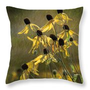 Yellow Coneflowers Throw Pillow