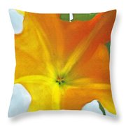 Yellow Datura Throw Pillow
