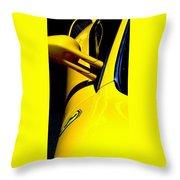 Yellow Ferrari Throw Pillow