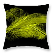 Yellow Ghost On Black Throw Pillow