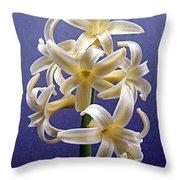 Yellow Hyacinth Throw Pillow