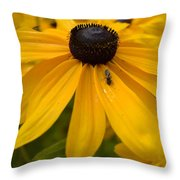 Yellow In Nature Throw Pillow
