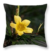 Yellow Jessamine Throw Pillow