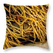 Yellow Kelp Throw Pillow