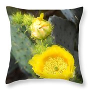 Yellow Lace Unveiled Throw Pillow