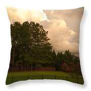 Yellow Lawn Chairs Throw Pillow