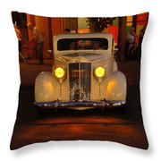 Yellow Lights On Throw Pillow