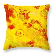 Yellow Mud Bubbles Throw Pillow
