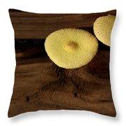 Yellow Mushrooms2 Throw Pillow