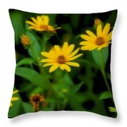 Yellow N Green Throw Pillow