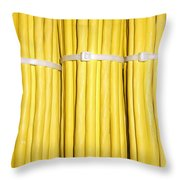 Yellow Network Cables Throw Pillow