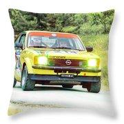 Yellow Opel Throw Pillow