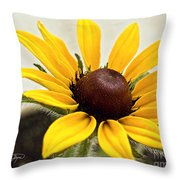 Yellow Punch- Artist Cris Hayes Throw Pillow