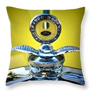 Yellow Roadster Throw Pillow